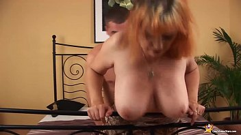 big natural breast redhead hairy mature gets extreme rough big cock fucked by her toyboy