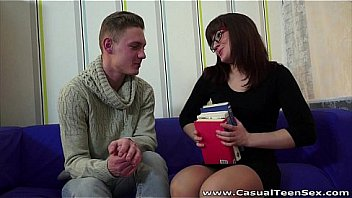 Casual Teen Sex He Shows Her His Books And His Cock thumbnail