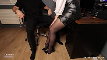Office Secretary Handjob