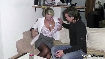 Virgin StepSon Get First time sex by help of his Mom and Cum two times on here