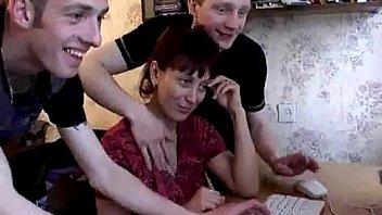 Mom gets surprise gangbang