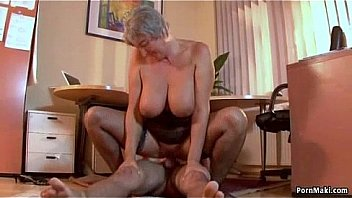 Busty granny wants young dick
