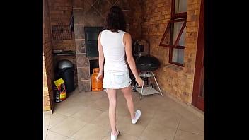 pussy showing under miniskirt