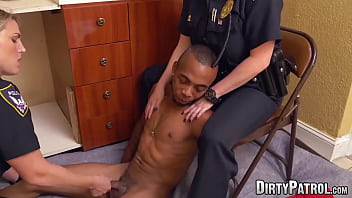 Femdom police officers fuck black suspect