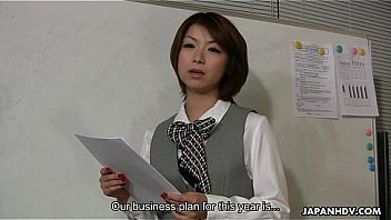 Watch Lady Tsubaki is a sexual freak who gets creamed at the office preview