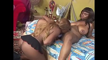 Black lesbians pleasures each other needy pussies with a vibrator