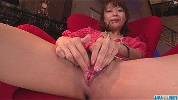 Maika cums hard in this japanese masturbate video