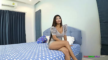 Beautiful Thai girl with big boobs teases me then deepthroats my dick