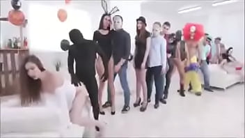 This slut gets fucked by a group of men