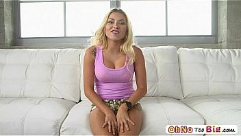 Watch this bigcock addict babe as she takes Sean monster cock so deep