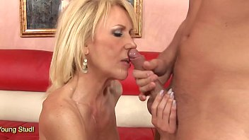 Blonde Milf Erica Lauren riding hard on huge dick
