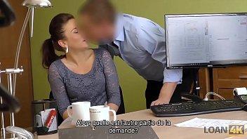LOAN4K. Lassie coquine Frances passe casting spécial porno à l'agence de prêt