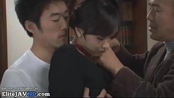 Japanese single milf gets banged by husband mates
