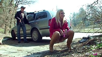 Public Scandal Fuck of Real Couple directly on car park in the near of other persons