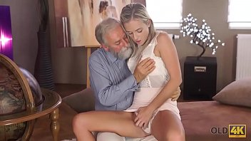 OLD4K. Kind grey-haired teacher makes sweet love to tender creature Shanie Ryan