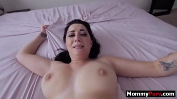 Step son spying on his bigt tits mother and fucking her