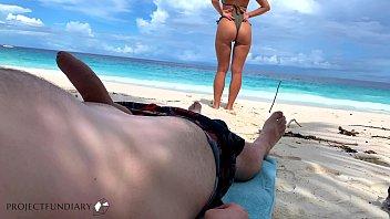 beach babe rides the cock an paradise island