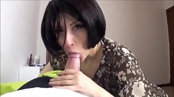 Short hair Milf Sucking Cock And Play With stuffed Toy Amateur homemade video