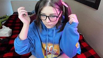 Cute suck nerdy girl