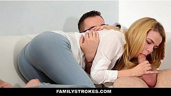 Family Stokes - Sexy Blonde Petite (Alina West) In Orgy