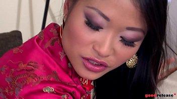 Deep ass fucking gives horny Asian hardcore goddess PussyKat shivers of pleasure