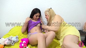 Lesbian games with lovely teen