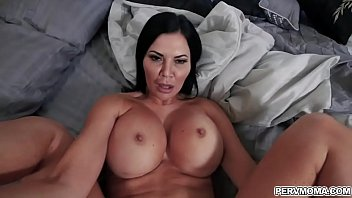 Stepson gives his Stepmom a surprise gift lingerie and gets turned on!