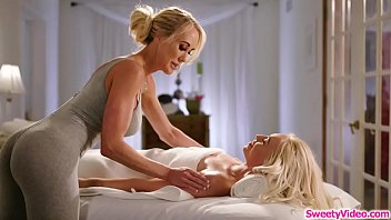 Blonde babe having sex with masseuse before joining a covenant