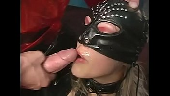 Sext slave in latex dress and mask wildly banged in the ass