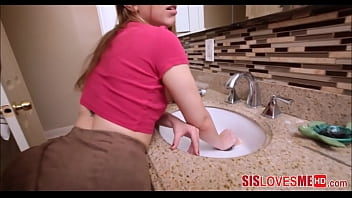Hot Teen gets fucked and shes stuck in a sink and cant get away