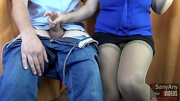 Student over excited and Handjob to Teacher, finished on clothes- XSanyAny