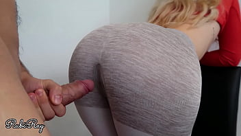 Step Sister Begs For Good Deep Fuck and Cum Load In her Ripped Yoga Pants
