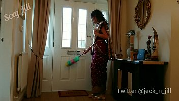 Indian servant in red saree used and a. by her desi master - hindi sex film