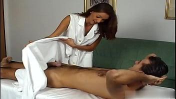 Beautiful masseur got passion sex with patient