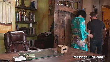 New masseuse's first day at the job
