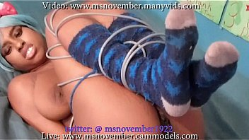 HD Aggressive Stepdad Dominating Msnovember Hot Ass, Curvy Titties, and Black Pussy With Rope While Hog Tieing Her For Punishment on Sheisnovember
