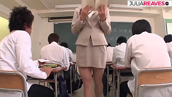 Asian teacher does group sex with her students