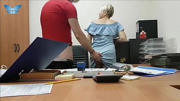 The boss fucks her sexy secretary on the office table