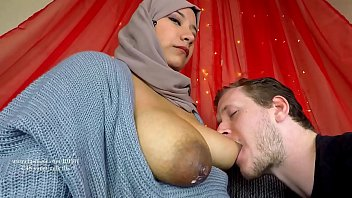 breastfeeding husband muslim wife firs time hijab tit sucking