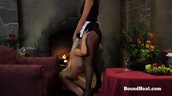 Young Slave Licks Maid And Mistress Till orgasm