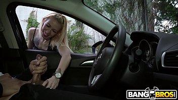 BANGBROS - Flashing Cock At Random Stranger On Street And She Lends A Hand!