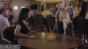 Jessica Drake's Wild Night Out With Tatted Friend