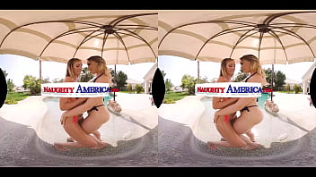 Naughty America - Hot babes enjoy the company of a hard cock together