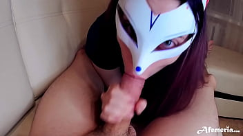 Sexy Teen Blowjob Big Cock and Cum in Mouth POV