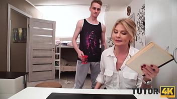 TUTOR4K. Smart buddy manages to turn lesson into awesome sex with tutor