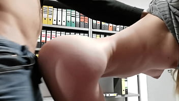 My little ass was secretly fucked in the office by a colleague