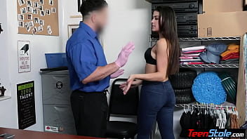 Petite brunette shoplifter used by a dirty LP officer