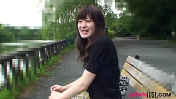 Horny brunette Japan teen Aki Tajima with nice hairy pussy getting it drilled by asian cock.