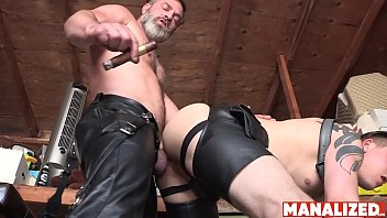 MANALIZED Daddy Raw Fucks Sub In Leather