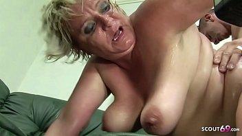 BBW Granny Seduce Teen Boy to Fuck her Big Pussy Deep and Rough